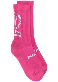Balenciaga World Food Programme print socks