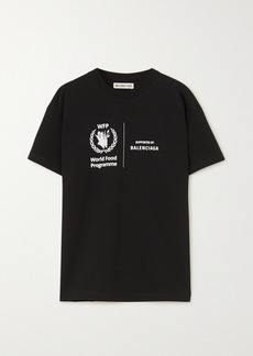 Balenciaga World Food Programme Printed Cotton-jersey T-shirt
