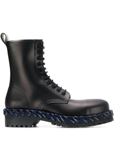 Balenciaga woven detail lace-up boots