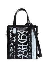 Balenciaga Xs Bazar Graffiti Leather Tote Bag