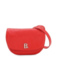 Balenciaga Xs Round Soft Leather Shoulder Bag