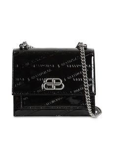 Balenciaga Xs Sharp Embossed Patent Leather Bag