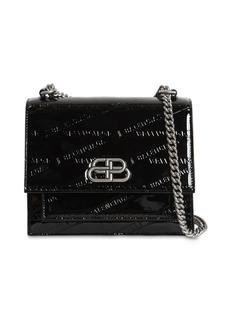 Balenciaga Xs Sharp Embossed Patent Leather Bag