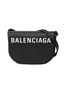 Balenciaga Xs Ville Day Logo Printed Leather Bag