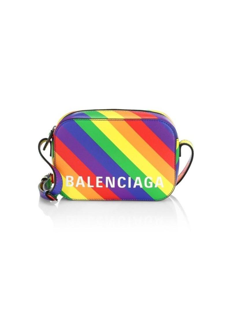 Balenciaga Extra-Small Ville Rainbow Leather Camera Bag