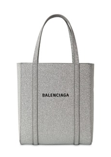 Balenciaga Xxs Everyday Glittered Leather Tote