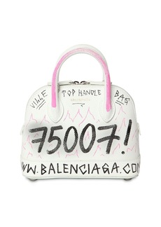 Balenciaga Xxs Ville Graffiti Grained Leather  Bag