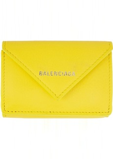 Balenciaga Yellow Mini Papier Wallet