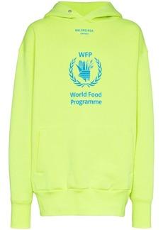 Balenciaga Yellow World Food Programme cotton-blend hoodie