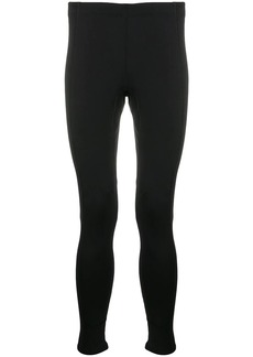 Balenciaga zip-cuff logo leggings