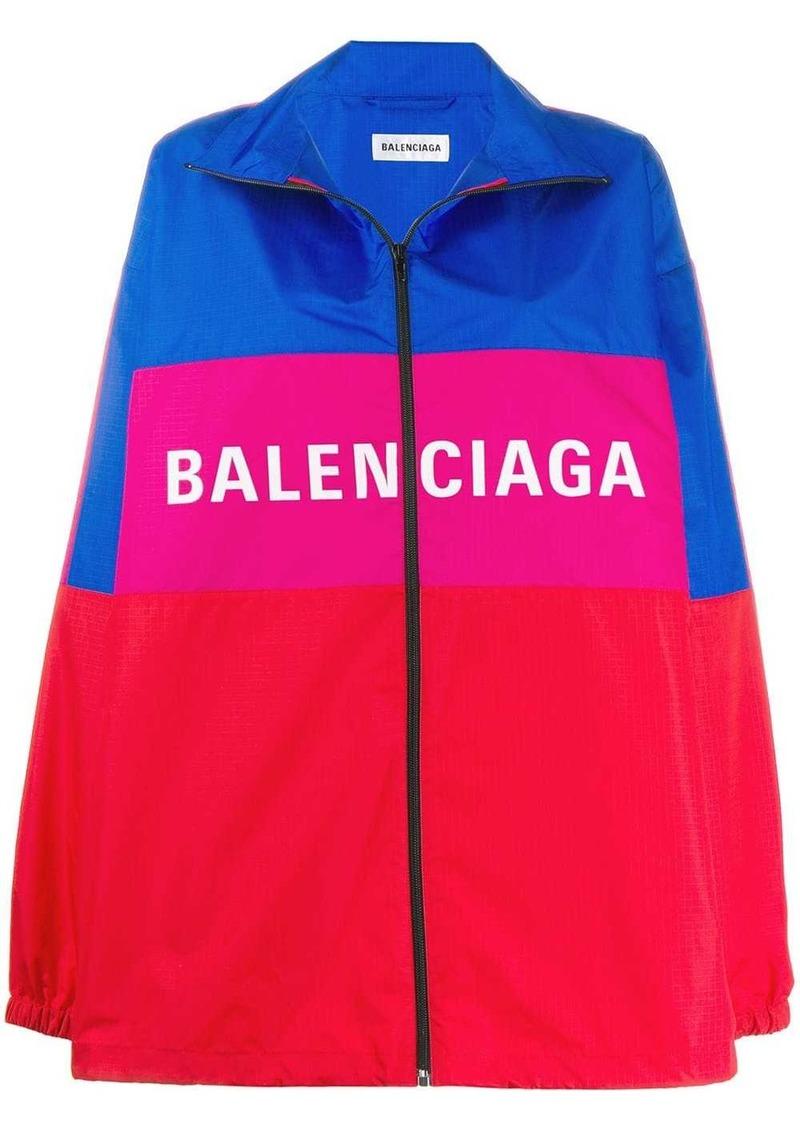 Balenciaga zip-up logo jacket