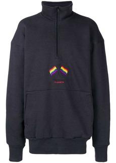 Balenciaga zip up sweatshirt
