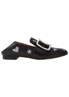 Bally 10mm Janelle Hearts Leather Loafers