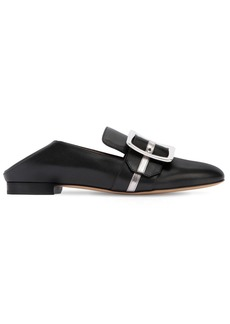 Bally 10mm Janelle Leather & Metallic Loafers