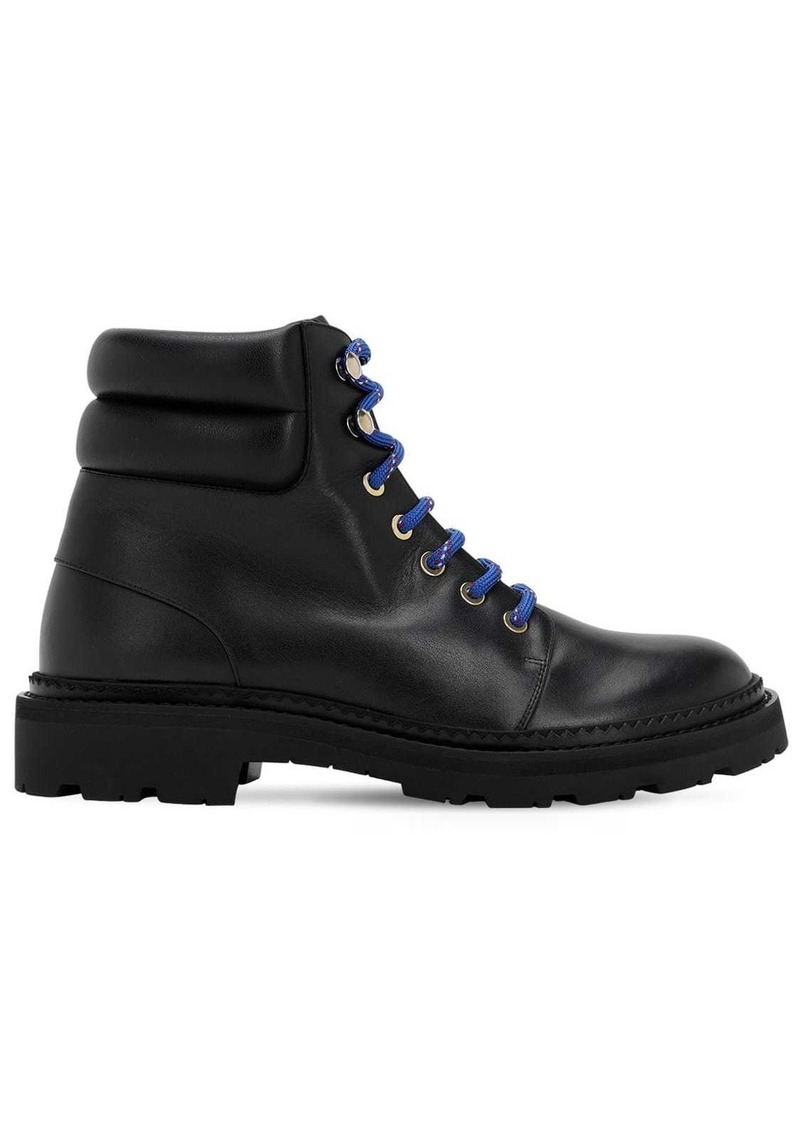 Bally 30mm Ganya Leather Combat Boots