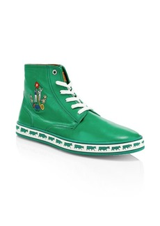 Bally Animals Alpistar Leather High-Top Sneakers