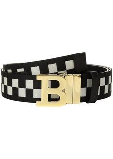 Bally B Buckle 40 Checkered Belt