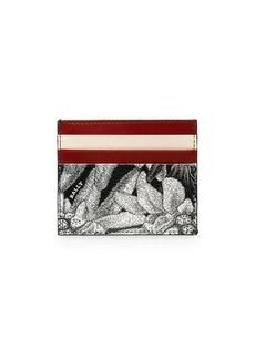 Bally Balbyn Floral Leather Card Holder
