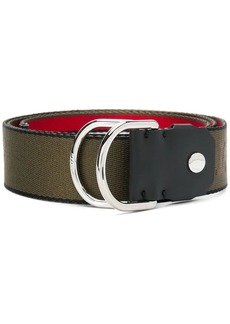 Bally stripe nylon belt