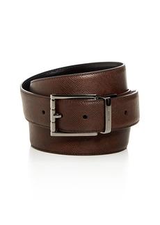 Bally Astor Embossed Leather Reversible Belt