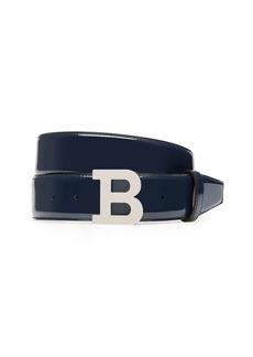 Bally B Buckle Patent Leather Belt