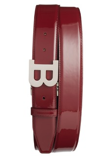 Bally B Buckle Patent Leather Belt