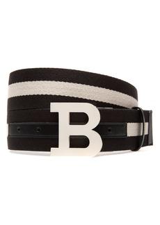 Bally B-Buckle Reversible Webbed Belt