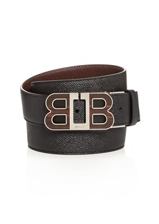 Bally Batel Mirror B Buckle Reversible Leather Belt