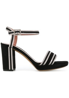 Bally contrast striped trim sandals - Black