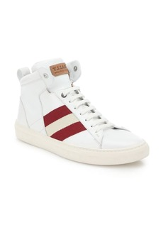 Bally Hedern Leather Mid-Top Sneakers