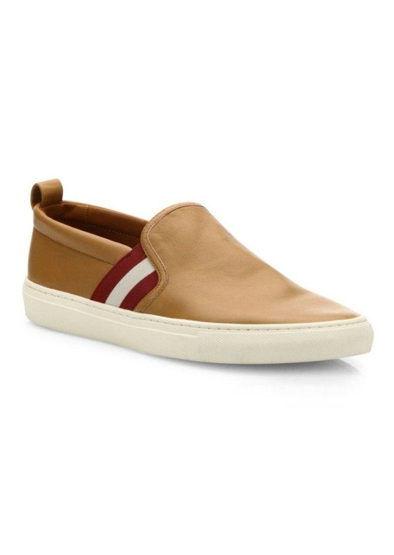 Bally Herald Sheep Leather Slip-On Sneakers