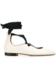 Bally Lavin lace-up ballerina shoes - Nude & Neutrals