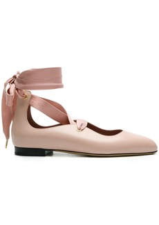 Bally Lavin lace-up ballerina shoes - Pink & Purple