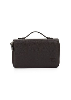 Bally Leather Double Zip-Around Wallet