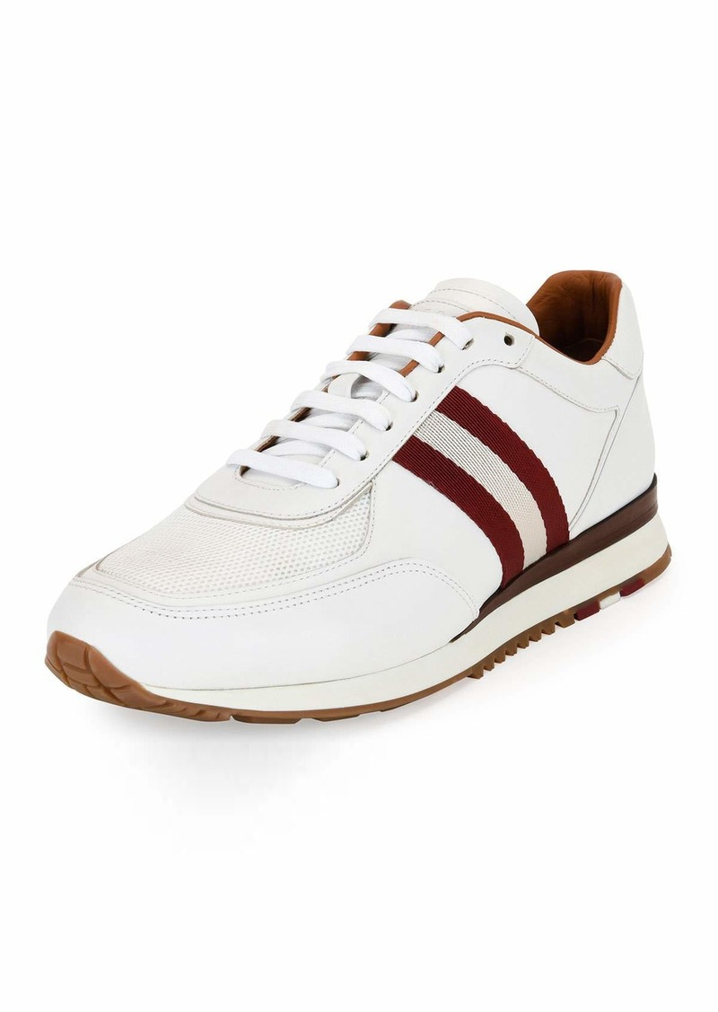 Bally Men's Leather Trainer Sneakers w/Trainspotting Stripe