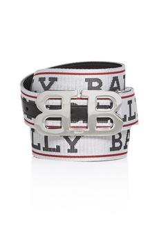 Bally Men's Mirror B Buckle Reversible Belt