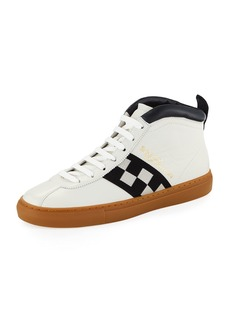 Bally Men's Vita Parcours Retro Lamb Leather High-Top Sneakers