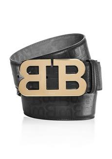 Bally Mirror B Buckle Stamped Belt