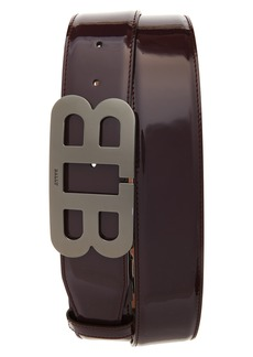 Bally Mirror Buckle Leather Belt