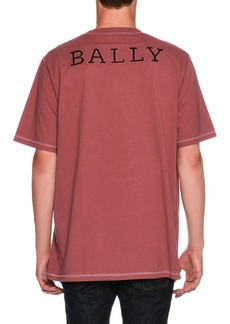 Bally Oversized Contrast-Trim T-Shirt