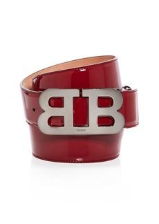 Bally Mirror B Buckle Patent Leather Belt