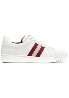 Bally perforated stripe sneakers - White
