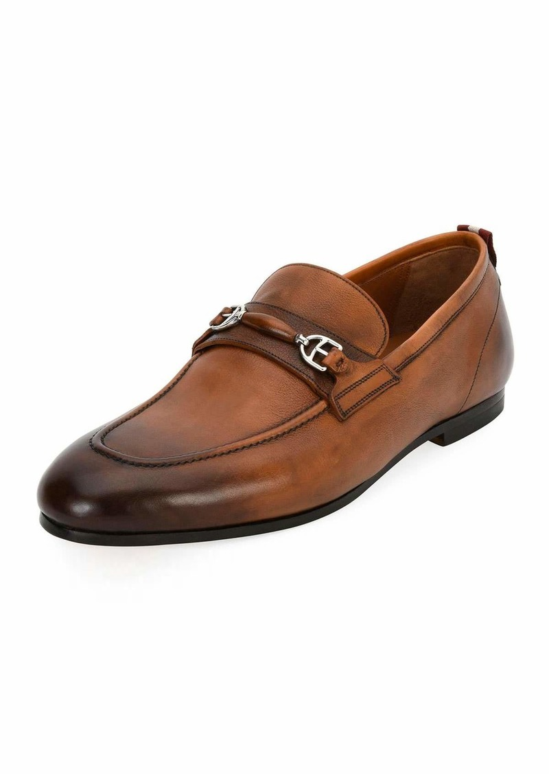 Bally Plintor Leather Bit-Strap Loafer