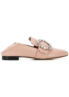 Bally side brooch embellished slippers