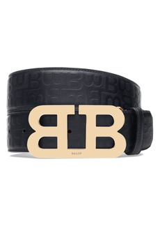 Bally Stamped Logo Leather Belt
