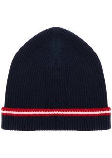 Bally stripe beanie hat