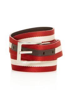 Bally Men's Stripe Reversible Belt