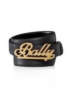 Bally Swoosh Logo Reversible Leather Belt