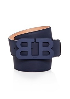 Bally Tonal Matte Buckle Leather Belt
