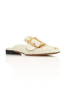 Bally Women's Janesse Almond Toe Studded Leather Mules